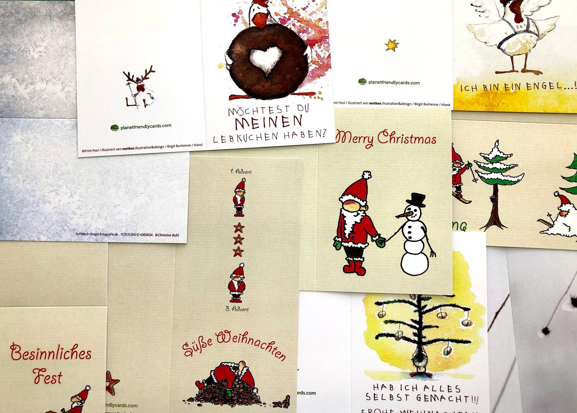 weihnachtskarten set 20 st ck inkl h llen. Black Bedroom Furniture Sets. Home Design Ideas