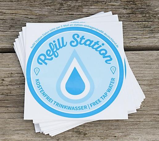 Refill Station - Aufkleber